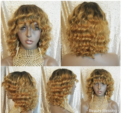 Body Wave 100% Remy Human Hair Full Cap Wig