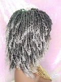 Soft Kinky Twist Locs Natural Style Full Cap Premium Fiber Hair  Wig