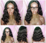 Loose Deep Wave Lace Wig Women Black Blonde Auburn Ombre Wigs