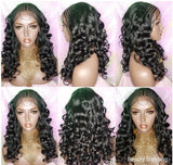 Wig Braided Cornrow Curly Hair 13x4 Lace Frontal Wig Baby Hairs Pre-plucked Lace Wig