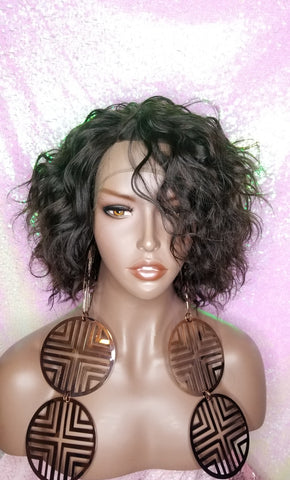 Loose Wave Brazilian Virgin Remy 100% Human Hair Lace Part Wig