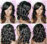 Duby Curl Silky Brazilian Remy 100%Human Hair Lace Wig