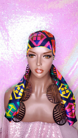 Hair Head Band Silk Satin Scarf Wig Scarf Head Scarf Head Scarf Color Hair Scarf African Head Scarf