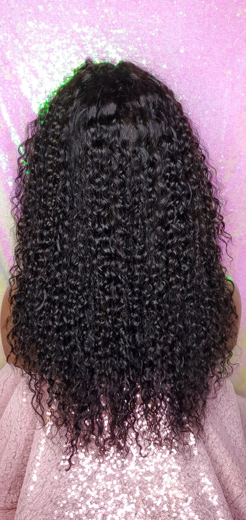 Brazilian Curl  Brazilian Remy 100% Human Hair Lace Front Wig Glueless Lace Wig