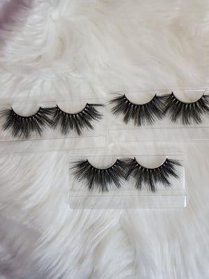 WISPEY Mink Eyelashes 3D Mink Eyelash Thick Minks Volume Natural Eyelashes Reusable Dramatic Lightweight Lashes