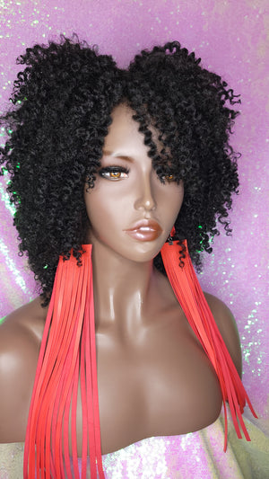 Afro Coil Bantu Knot Twist Out Kinky Twist Hair Full Cap Natural Wig Natural Hairstyle Wig Afro Twist Hair Wig