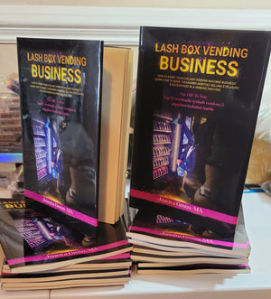 PAPERBACK- Eyelash Vending Machine Book- How I Started An Eyelash Vending Machine Business- Mink Eyelashes - Eyelash Business-Lash Vending Machine