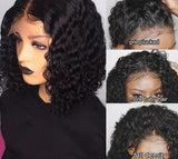 Brazilian Remy Curly Short Human Hair Wig 13X6 Deep Part Lace Front Wig Preplucked With Baby Hair Wig