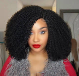 Kinky Twist Curls Premium Fiber Lace Wig Lace Part/Lace Edge Wig