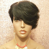 Short Style Pixie Cut 100% Remy Human Hair Wig