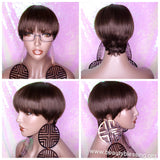 Celebrity Inspired Style Mushroom Pixie Cut Brazilian Remy 100%Human Hair Wig