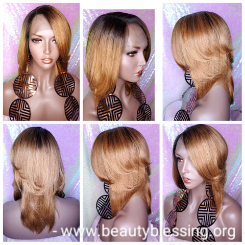 Bob Style 100% Remy Human Hair Lace Part/Front Wig