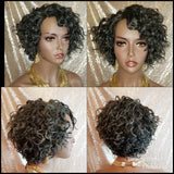 Deep Curly Remy Human Hair Lace Part Wig