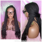 Small Micro African Braided Lace Front Handcraft Glueless Wig