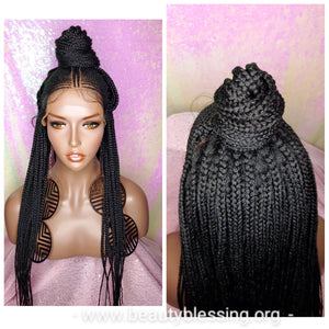 African Fulani Cornrow Braid 13×5 Lace Front Wig