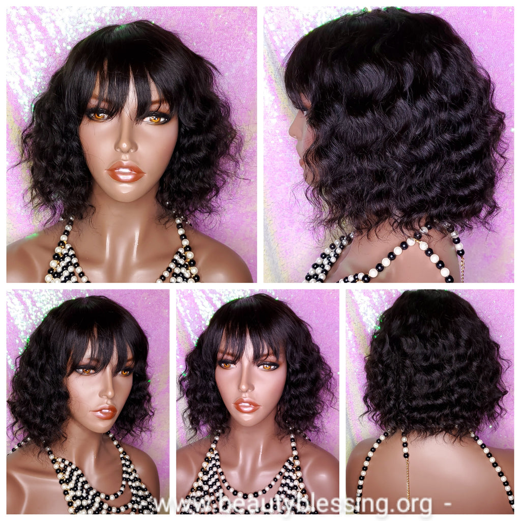 Deep Wave Natural Wave Bob Mink Brazilian Virgin Remy Human Hair Wig