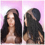 Spring Twist Afro Hair Lace Wig Kinky Twist Hair Premium Fiber Glueless Lace Wig Preplucked Lace Wig