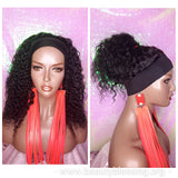 Affordable Headband Wig Water Wave Brazilian Remy 100% Human Hair Natural Hair Half Wig Hair Wrap Trendy Headband Wig