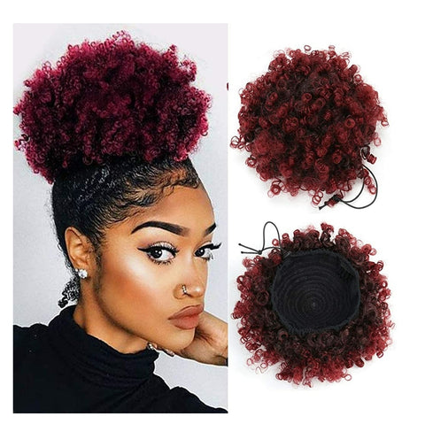 Afro Kinky Puff Ponytail Afro Curly Hair Piece