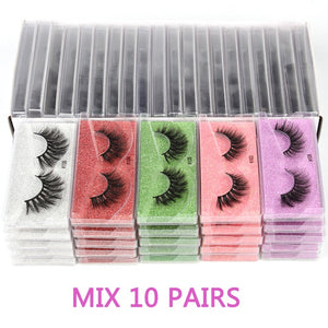 Wholesale Mink Eyelashes 30/40/50/100pcs 3d Mink Lashes Natural false Eyelashes Wispy Eyelashes Makeup Lashes In Bulk