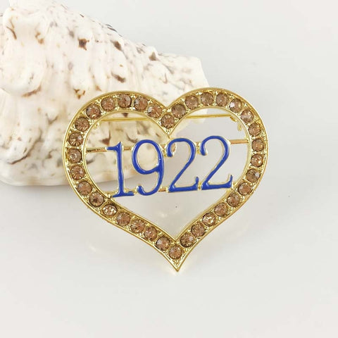 Sigma Gamma Rho Sorority Letter Logo 1922  Heart  Lapel  Pin Brooch jewelry