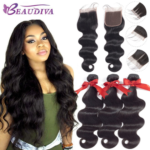 Brazilian Hair Body Wave 3 Bundles With Closure Human Hair Bundles With Closure Lace Closure Human Hair Extension