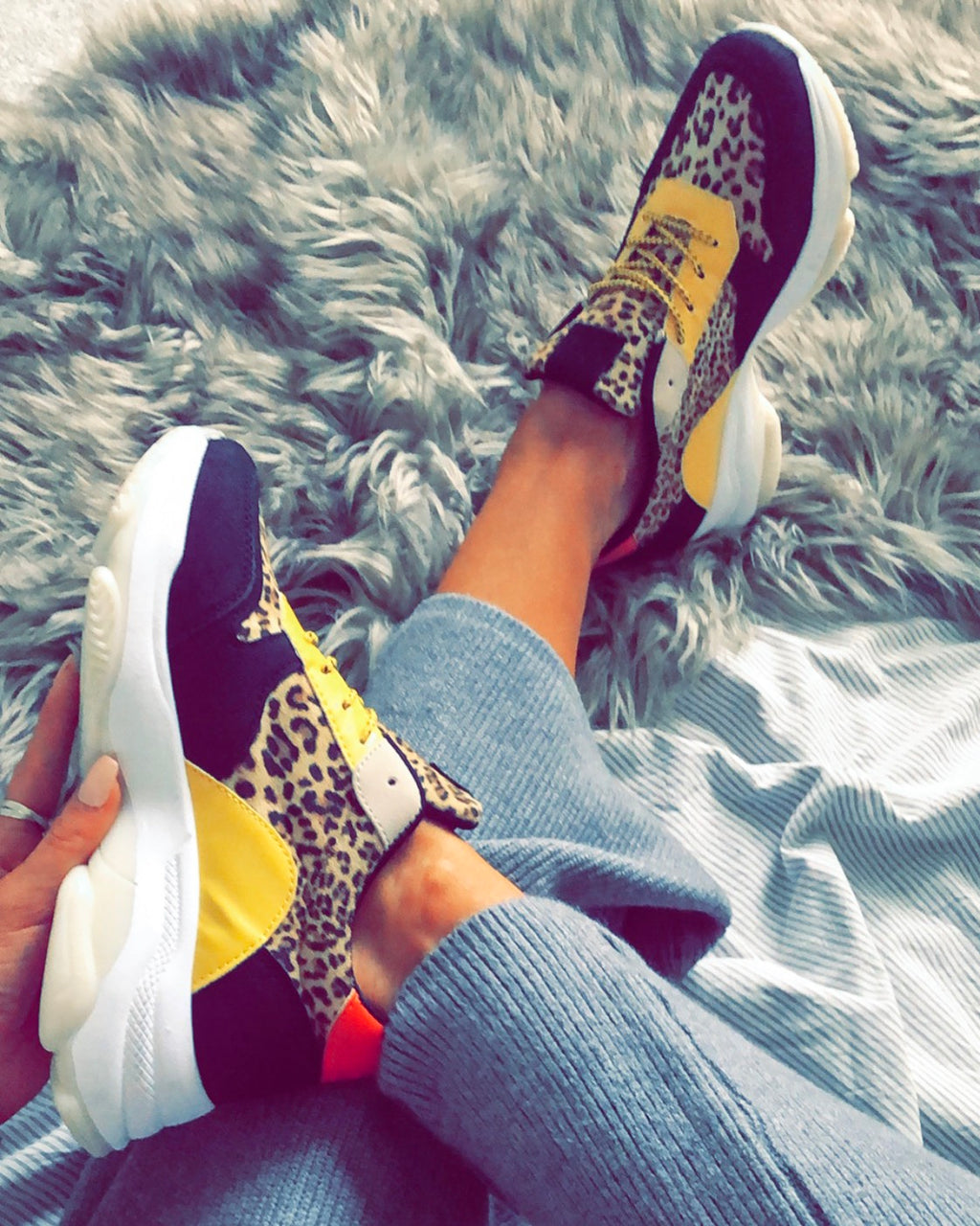 Faded Love Trainers in Leopard