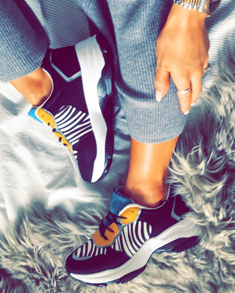 Faded Love Trainers in Zebra