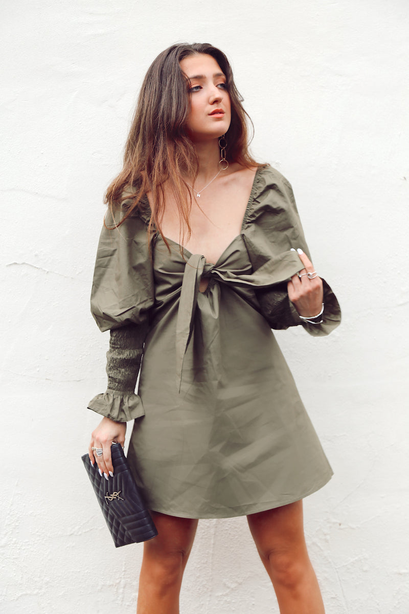 Free As A Bird Dress in Khaki