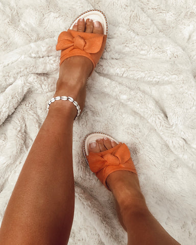 Cross My Heart Espadrilles in Rose Gold