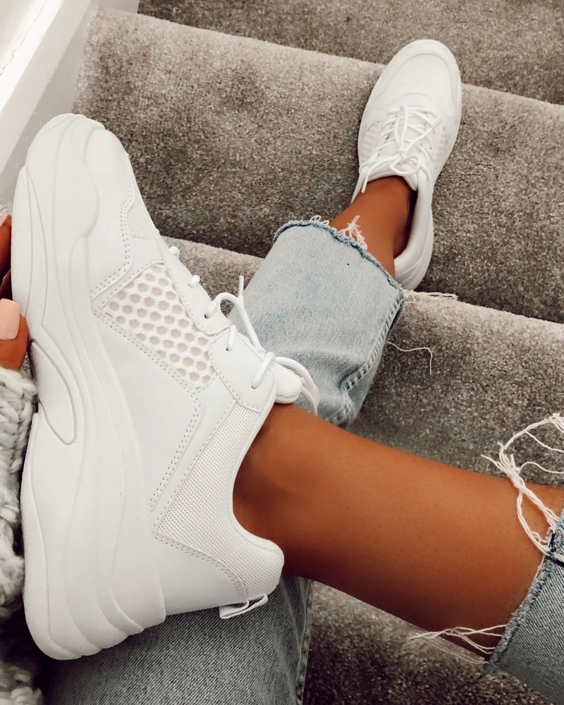 Raiya Chunky Trainers in White
