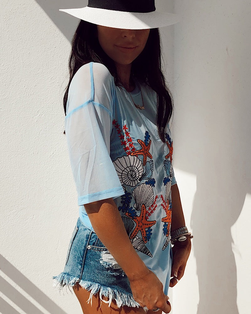 Embroidered Oversized T-shirt