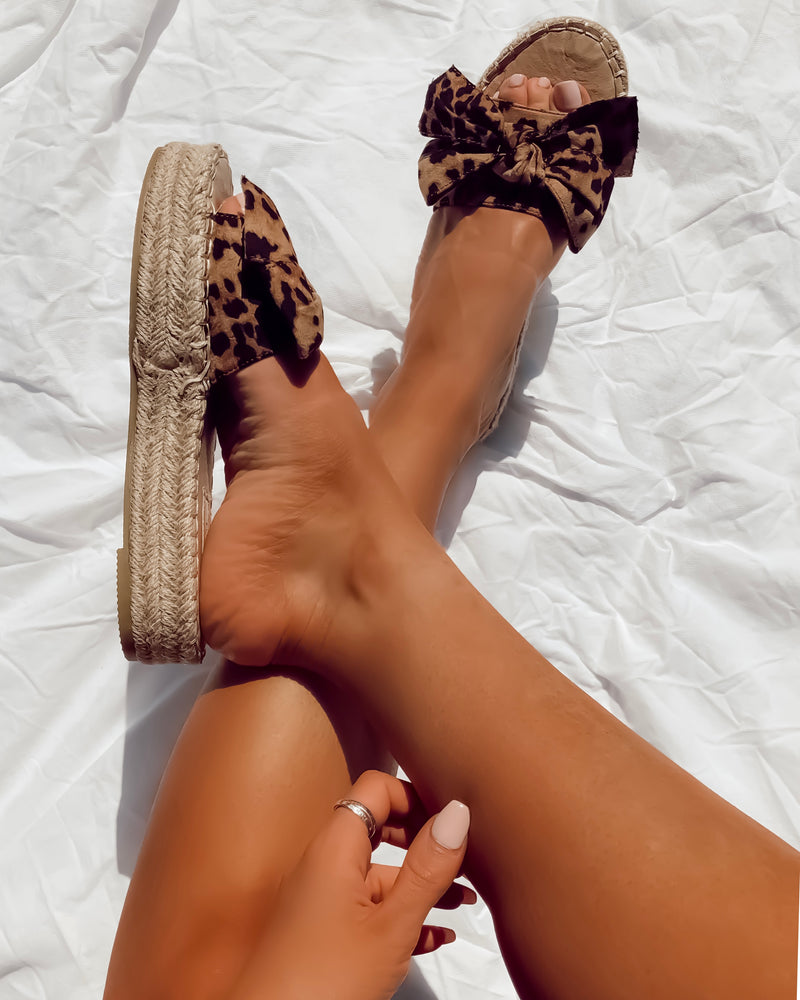 Cut the Drama Leopard Slides