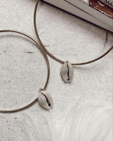 Faded Small Hammered Hoops In Gold