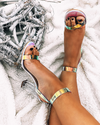 Table Turn Hologram Block Heels
