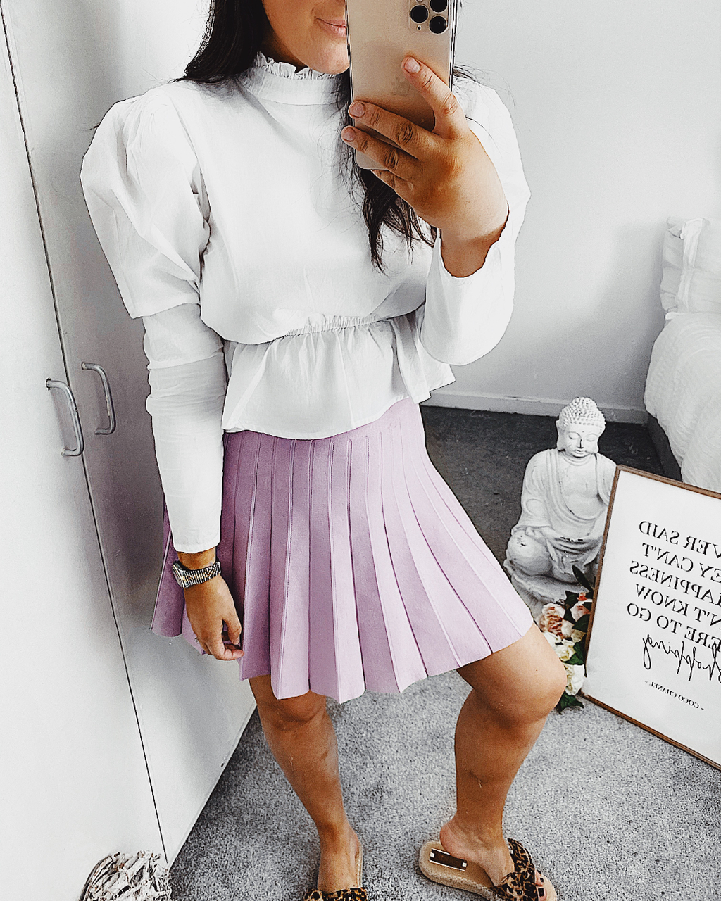 Cancelled Plans Pleated Skirt in Lilac