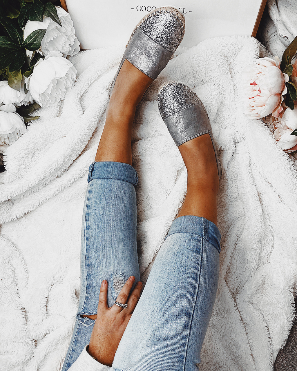 Sweet Life Espadrilles in Silver