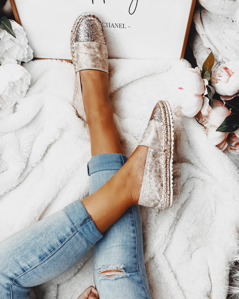 Sweet Life Espadrilles in Gold
