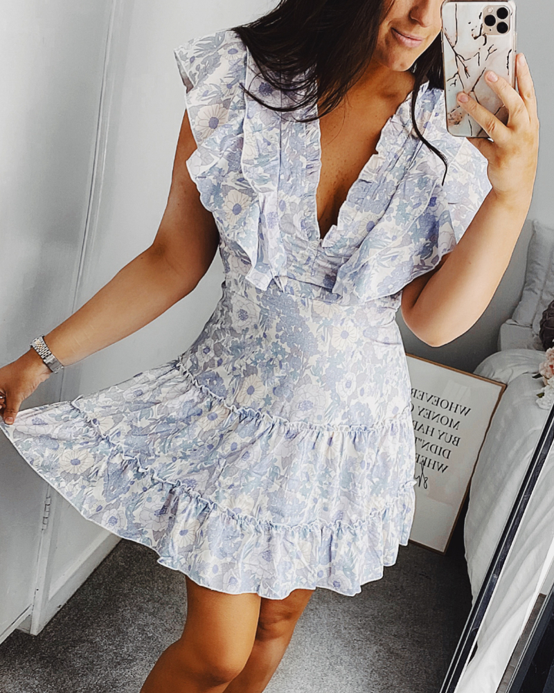 Athena Frill Dress Floral