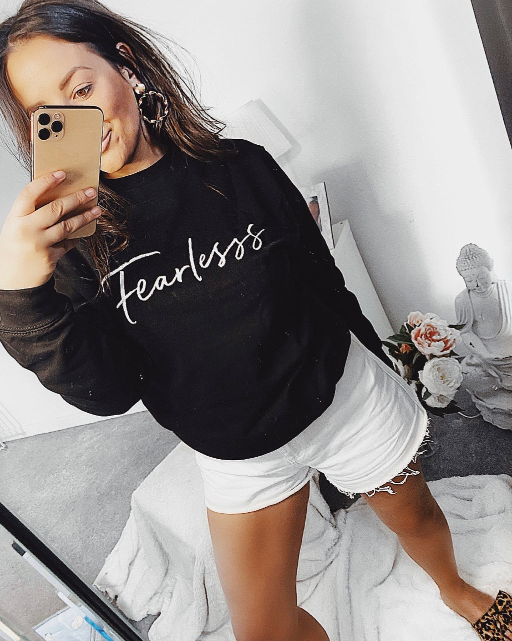 FEARLESS Jumper Black & white