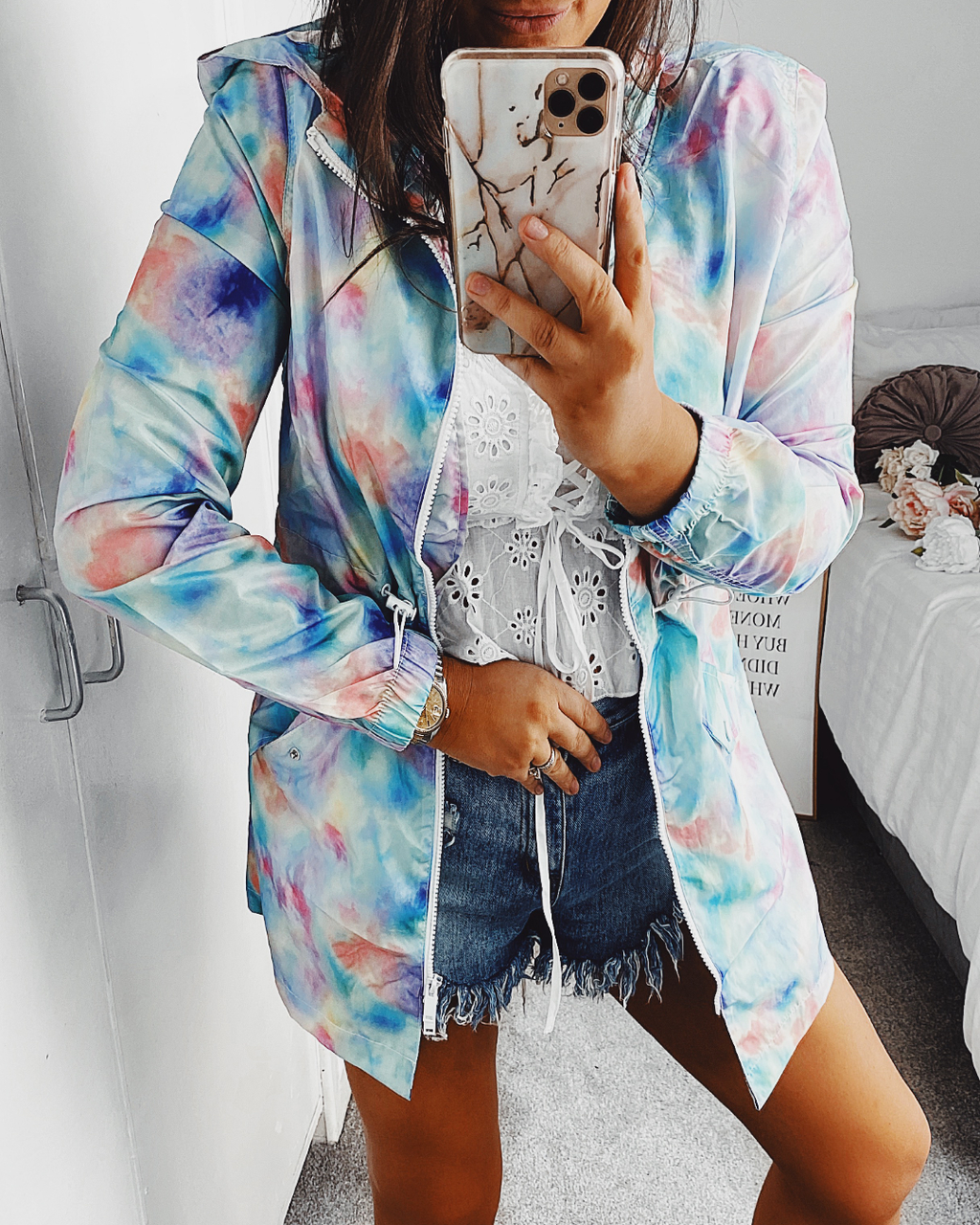 Let it Rain Tie Dye RainCoat