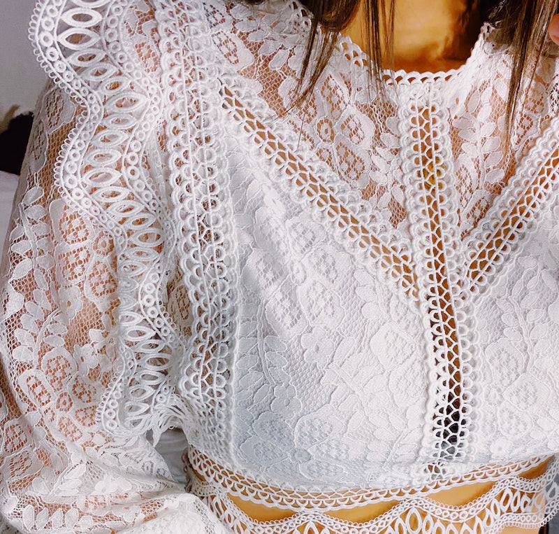 Count my Blessings Lace Top
