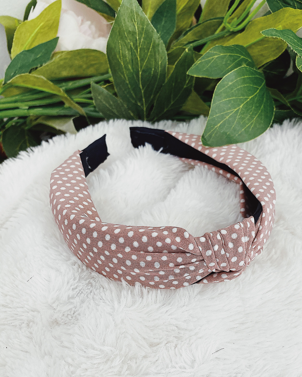 Headband Polka Dot Pink