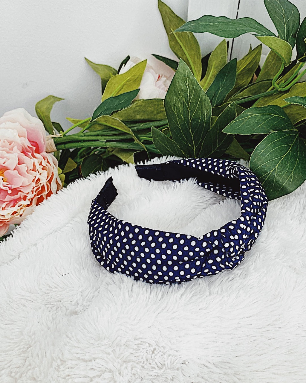 Headband Polka dot Blue
