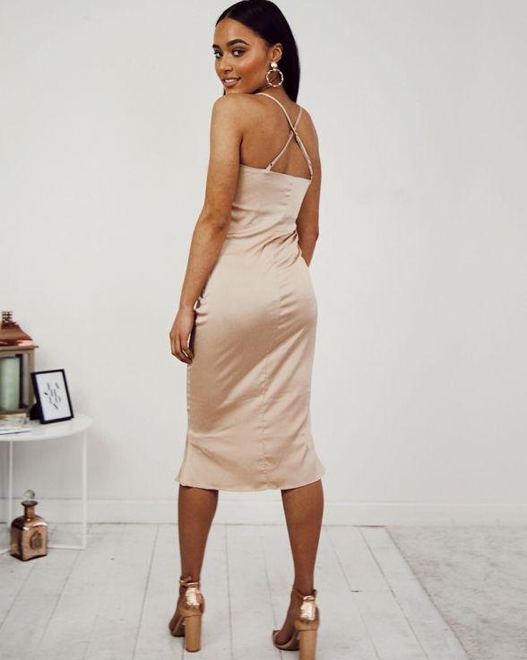 Caught In The Act Dress In Nude