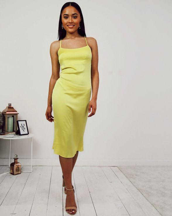 Caught In The Act Dress In Yellow