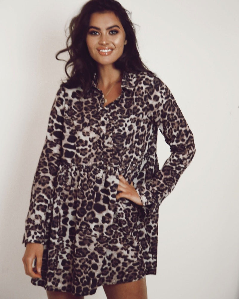 Rhian Leopard Print Dress