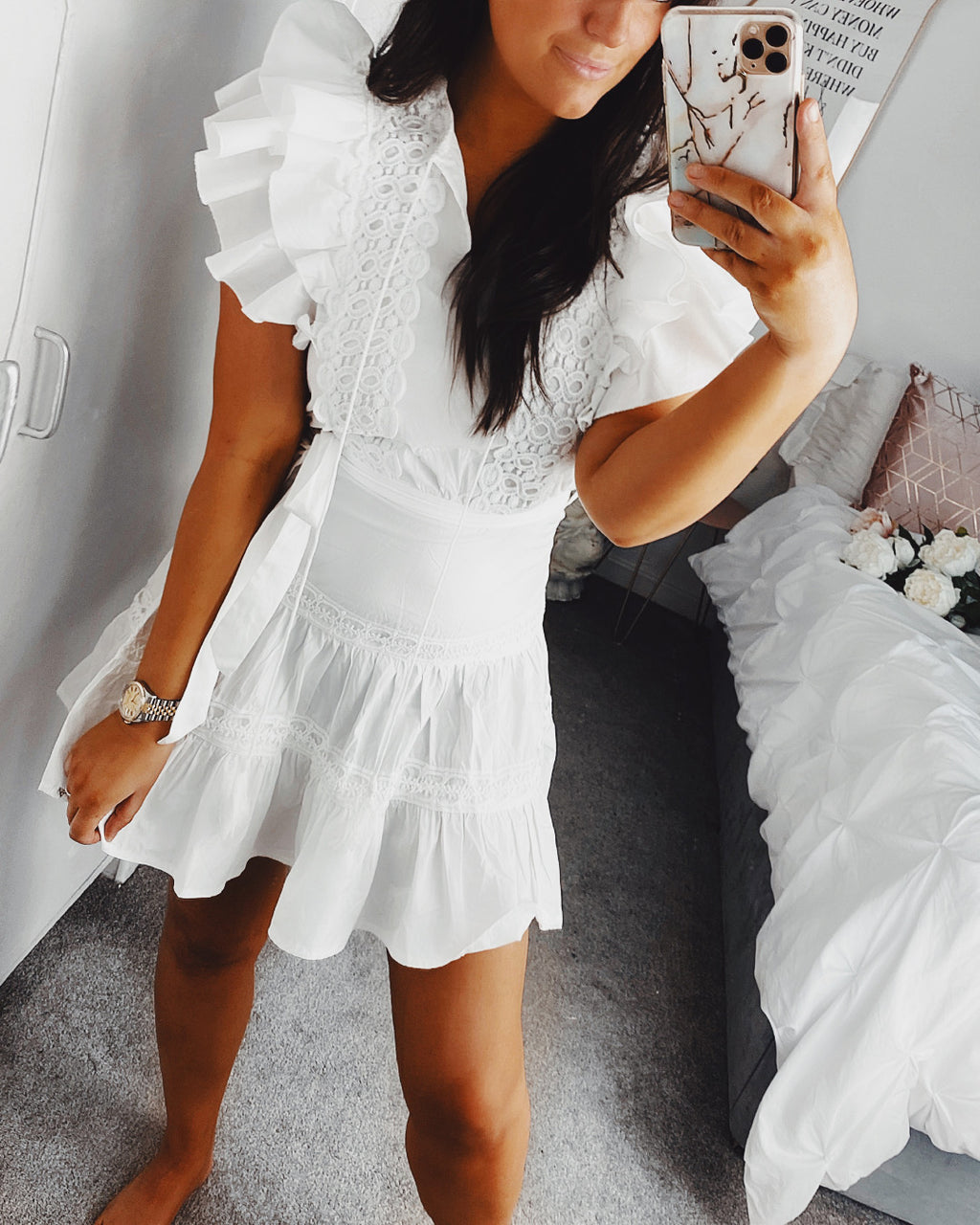 I Want More Dress White