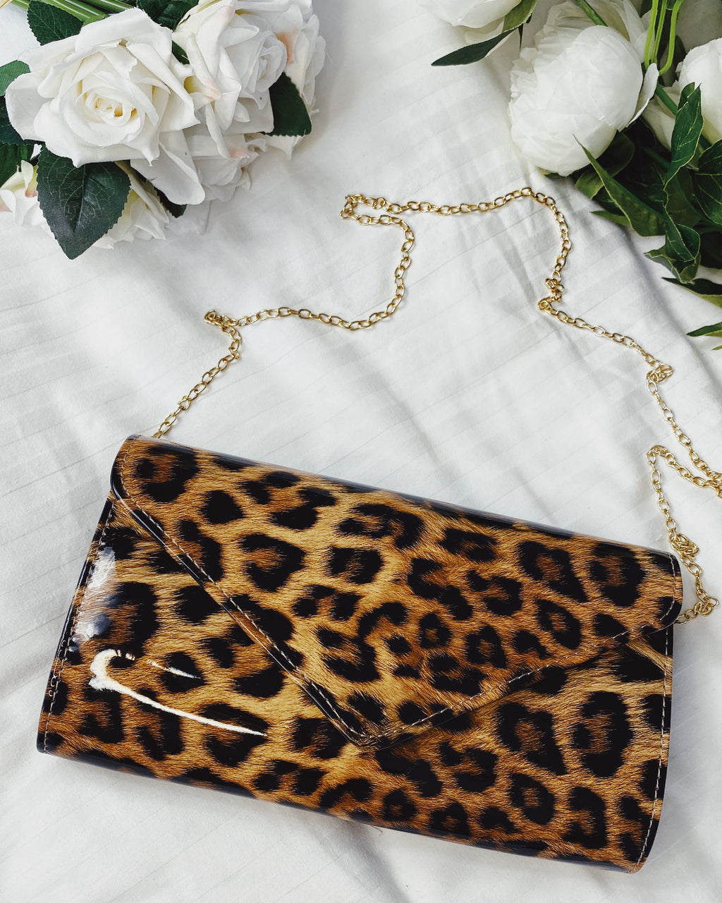 Animal Love Leopard Print Clutch