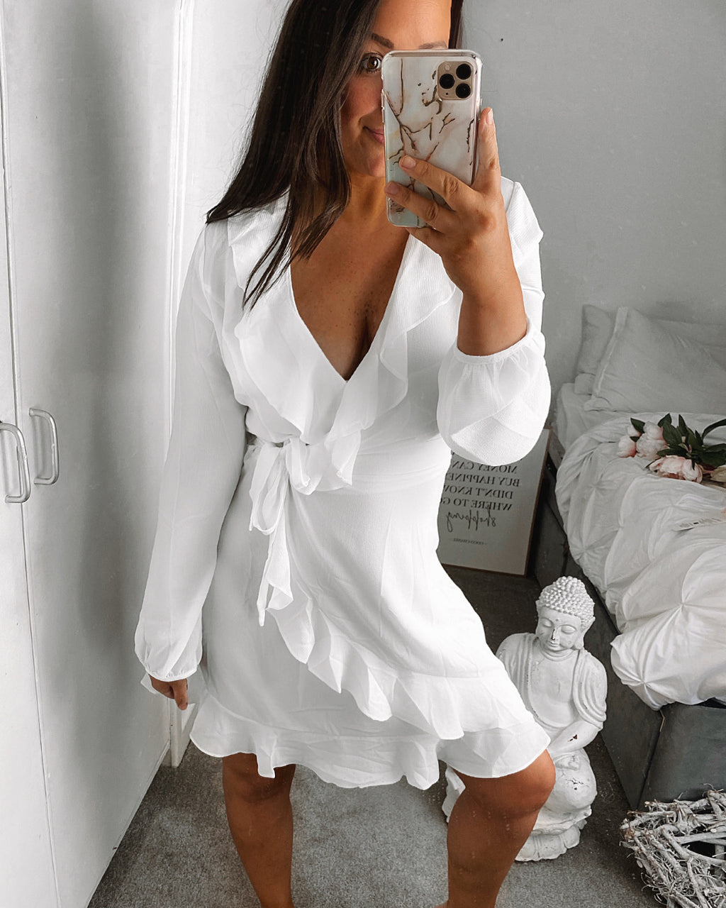 Inanna Wrap Dress White